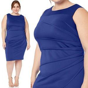 Calvin Klein Starburst Marine Blue Dress 20W O638
